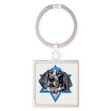 Hanukkah Star of David - Coonhound Square Keychain