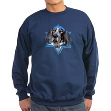 Hanukkah Star of David - Coonhound Sweatshirt