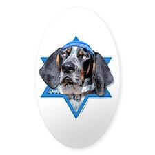 Hanukkah Star of David - Coonhound Decal