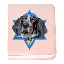 Hanukkah Star of David - Coonhound baby blanket