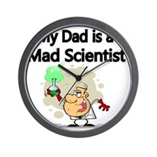 My Dad is a Mad Scientist Wall Clock