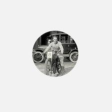 Harley-Davidson Motorcycle Racer Mini Button