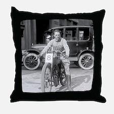 Harley-Davidson Motorcycle Racer Throw Pillow
