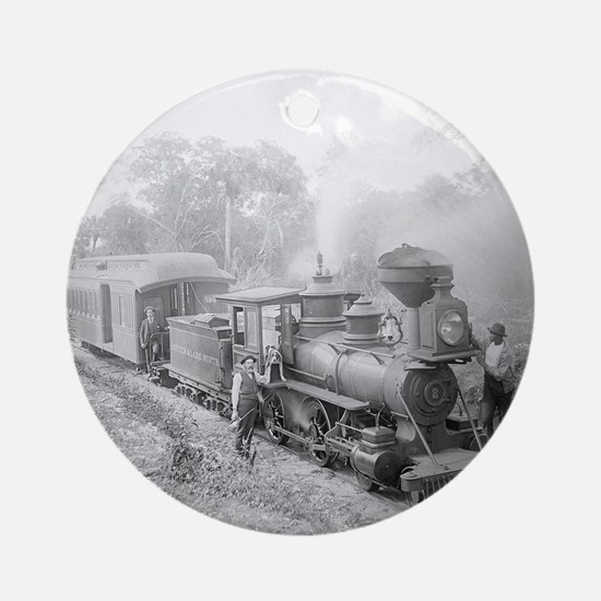 Jupiter and Lake Worth Railroad Round Ornament