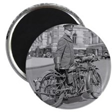 Motorcycle Police Officer Magnet