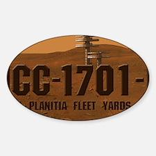 Enterprise D License Plate Sticker (Oval)