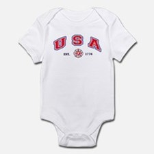 USA Firefighter Infant Bodysuit