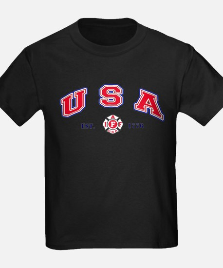 USA Firefighter T