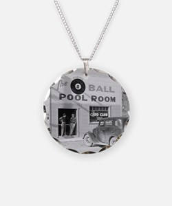 The Eight Ball Pool Room Necklace