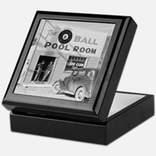 The Eight Ball Pool Room Keepsake Box