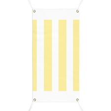 Banana Yellow Stripes Banner