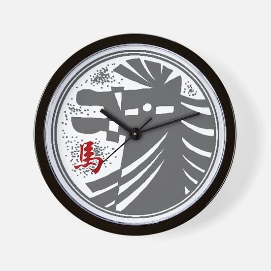 horseA73dark Wall Clock