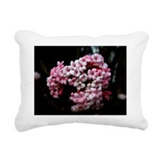 Pink Flower Rectangular Canvas Pillow