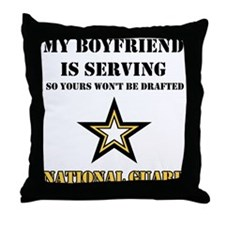 National Guard - My Boyfriend Throw Pillow