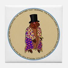 THE GROUNDHOG Tile Coaster