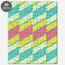 60s Pastel Stripe Puzzle