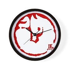 horseA71ligh6inches Wall Clock