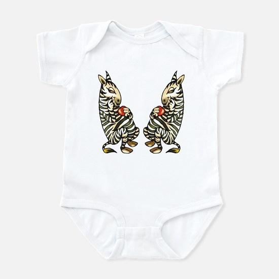 ZEBRAS IN LOVE Infant Bodysuit