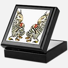 ZEBRAS IN LOVE Keepsake Box