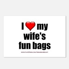 """Love My Wife's Fun Bags"" Postcards (Package of 8)"