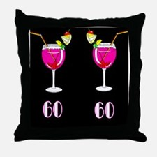 SIZZLING 60TH Throw Pillow