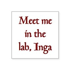 "inga lab Square Sticker 3"" x 3"""
