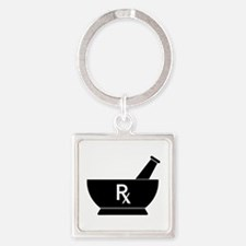 Mortar And Pestle Rx Keychains