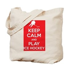Keep calm and play ice hockey  Tote Bag