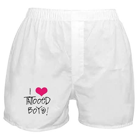 I Love Tattooed Boys Boxer Shorts
