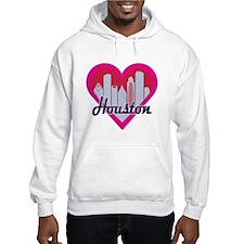 Houston Skyline Heart Hoodie