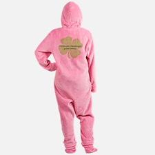 Custom Saint Patricks Day Design Footed Pajamas