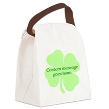 Custom Saint Patricks Day Design Canvas Lunch Bag