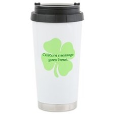 Custom Saint Patricks Day Design Travel Mug