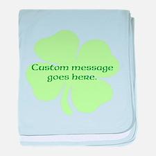 Custom Saint Patricks Day Design baby blanket
