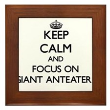 Keep calm and focus on Giant Anteaters Framed Tile