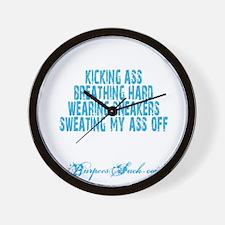 I FEEL PRETTIEST WHEN - BLUE Wall Clock