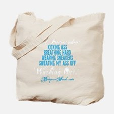 I FEEL PRETTIEST WHEN - BLUE Tote Bag