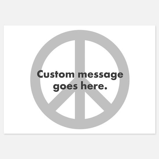 Say Your Peace - Custom Peace Design Invitations