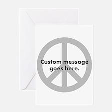 Say Your Peace - Custom Peace Design Greeting Card