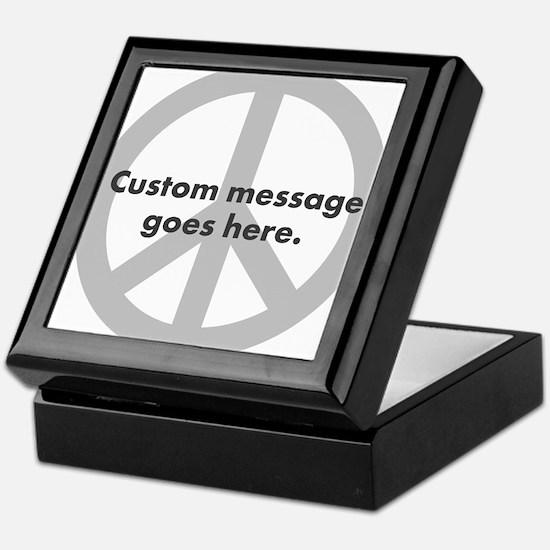 Say Your Peace - Custom Peace Design Keepsake Box