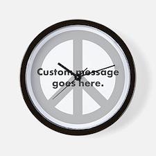 Say Your Peace - Custom Peace Design Wall Clock
