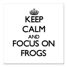 Keep calm and focus on Frogs Square Car Magnet 3""