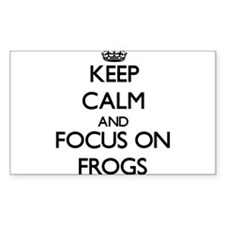 Keep calm and focus on Frogs Decal
