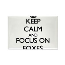 Keep calm and focus on Foxes Magnets
