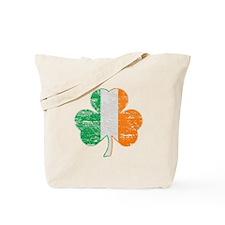 Vintage Irish Flag Shamrock Tote Bag