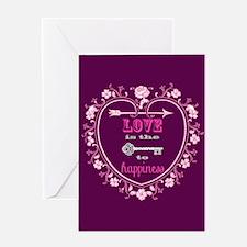 Vintage Valentine Love Key Greeting Card