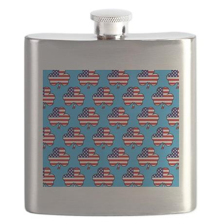 shower am shamrock blue wide Flask