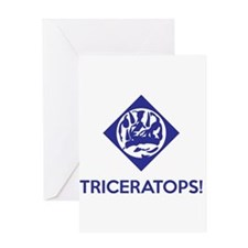 TRICERATOPS Greeting Cards