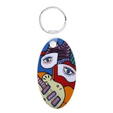Musician with White Guitar Keychains