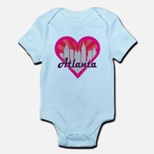 Atlanta Skyline Sunburst Heart Body Suit